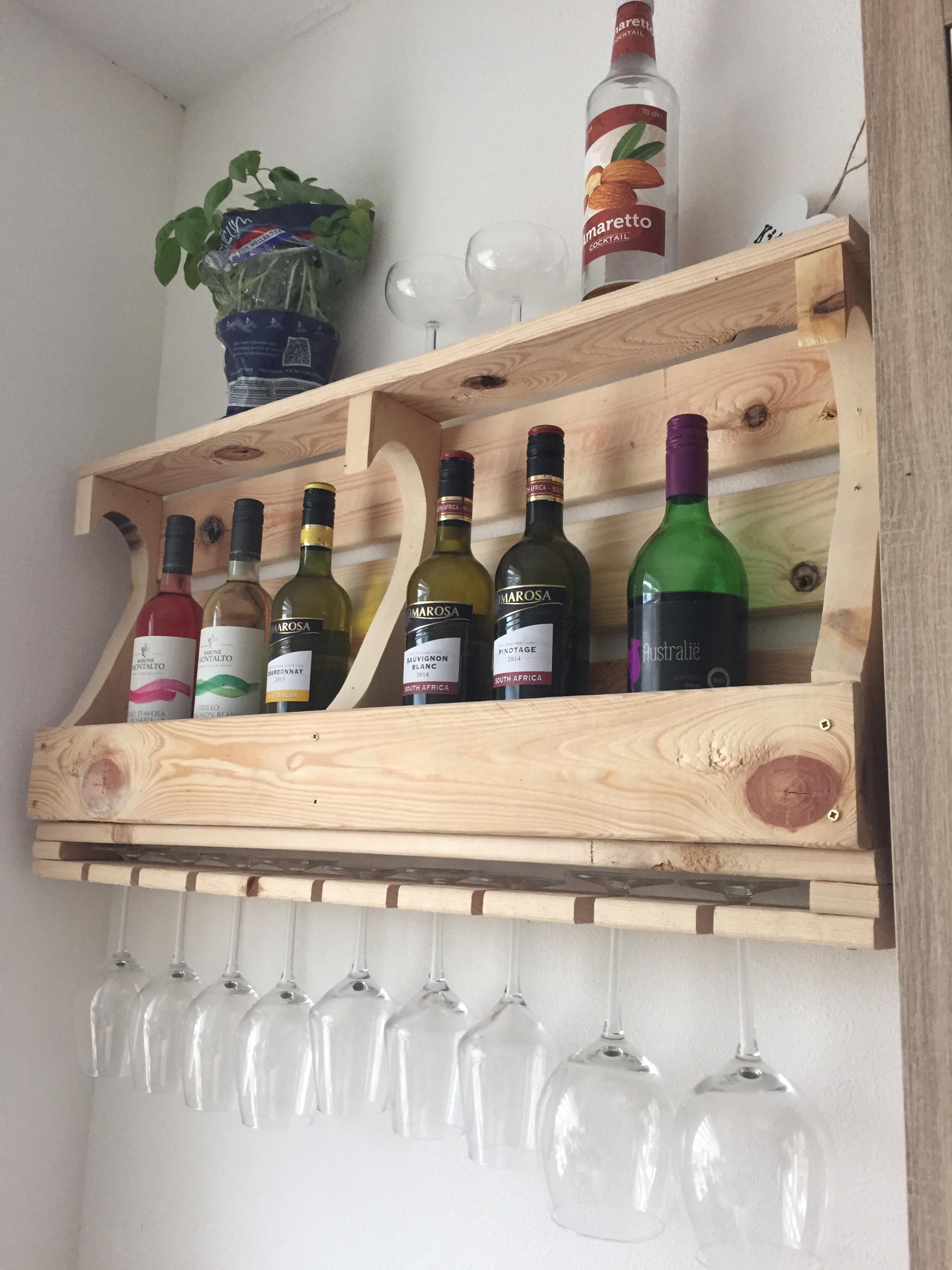 Nieuw DIY: Wijnrek van hout – interieur by cher SL-48